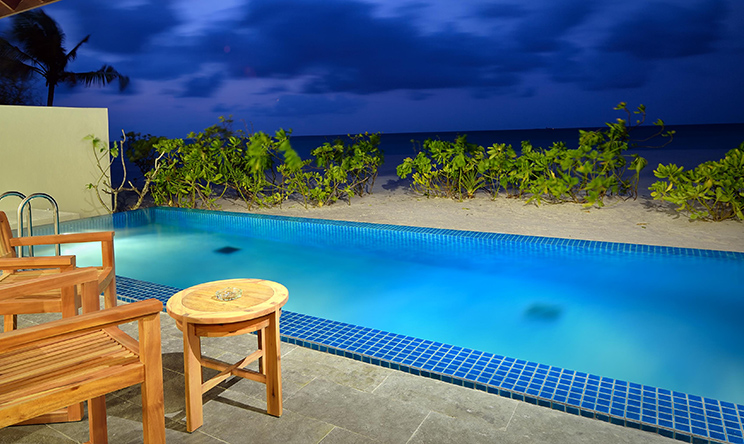 SUNSET POOL VILLA - EXTERIOR AT DUSK WITH VIEW.jpg